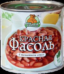"""Фасоль """"Медведь любимый"""" красная  в томатном соусе 425 мл"""