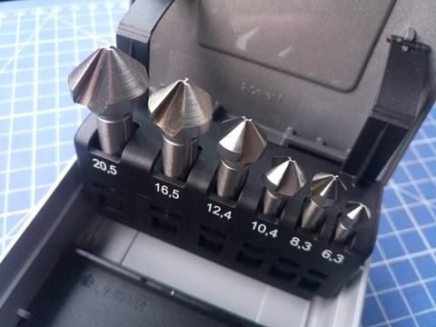 Набор зенковок 90° 6,3-20,5мм DIN335C 3z HSSE-Co5 6шт Bucovice(CzTool) 791806