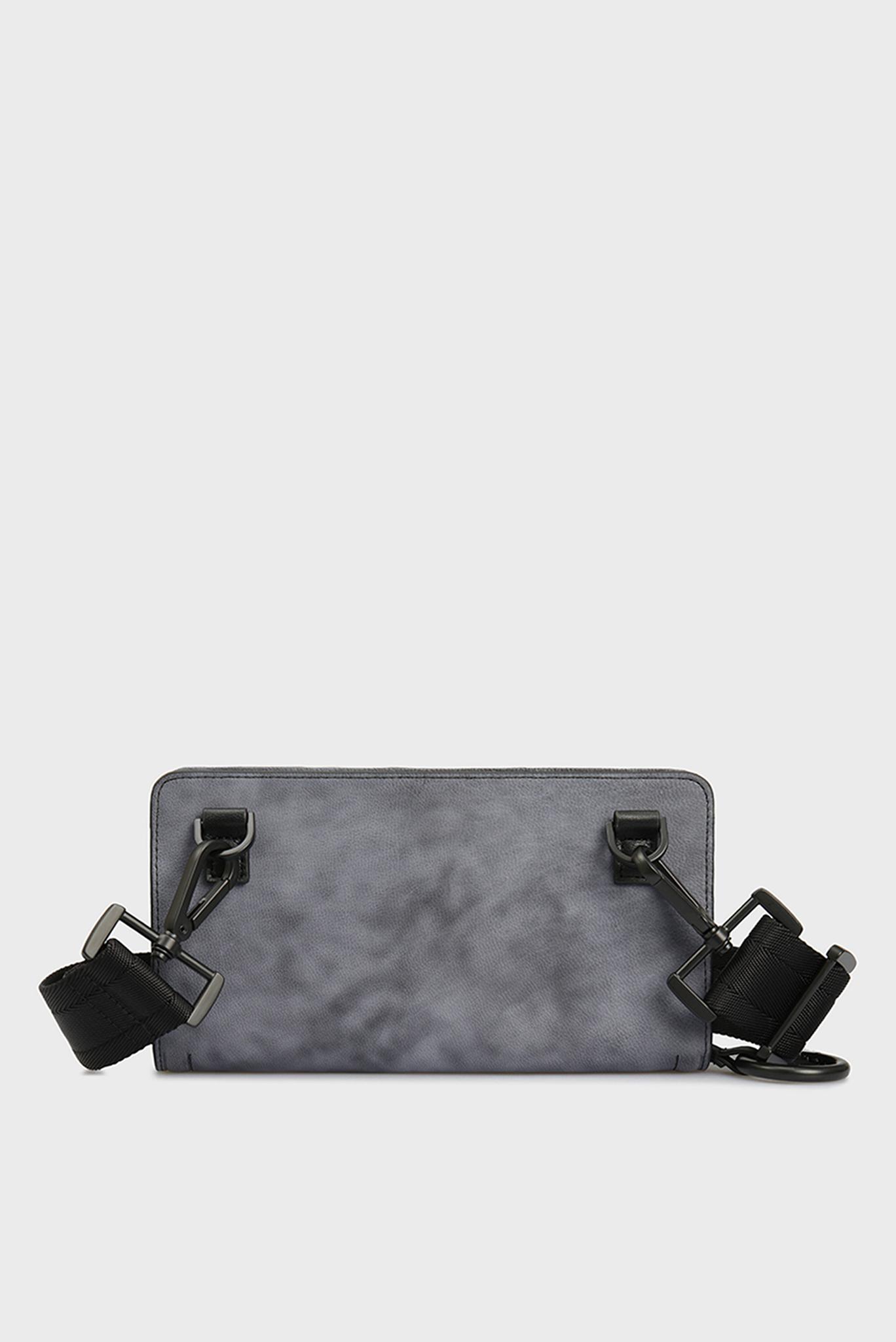 Женский серый кожаный клатч GRANATO LCLS Diesel