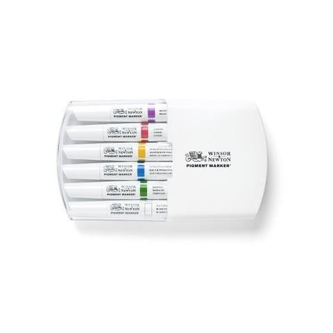 Набор маркеров Pigment Marker 6шт насыщенные оттенки