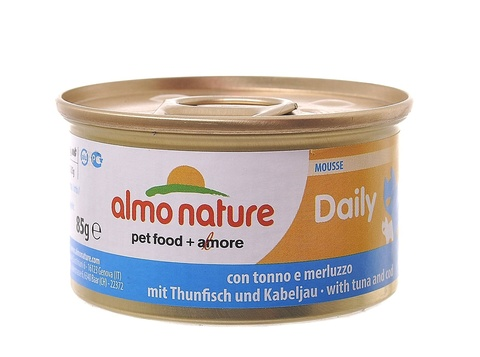 Консервы (банка) Almo Nature Daily Menu mousse Tuna and Cod