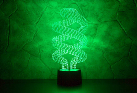 3D ночник Спираль