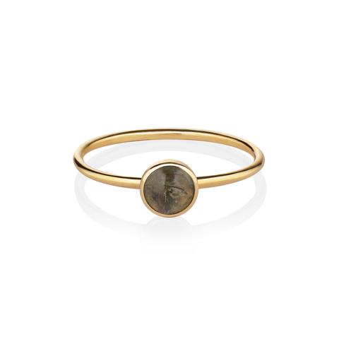 Кольцо с турмалином – 17 размер