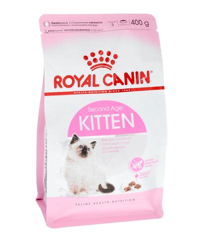Royal Canin Kitten сухой корм для котят от 4 до 12 месяцев и беременных кошек 400 г