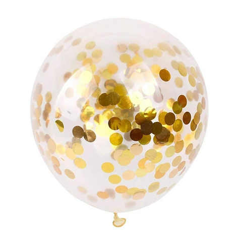Латексный воздушный шар, с конфетти золотые круги