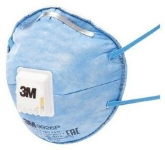 Специализированная Противоаэрозольная Фильтрующая Полумаска 3M™ 9926 с дополнительной защитой от запахов кислых газов, FFP2 NR D, с клапаном выдоха