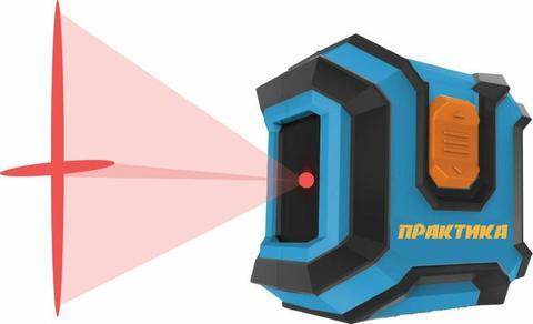 Нивелир лазерный линейный ПРАКТИКА НЛ-2Л, горизонтальная и вертикальная линии, видимость д (649-424)