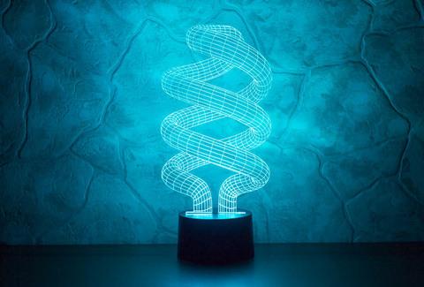 3D лампа Спираль