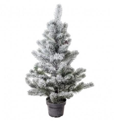 Искусственная елка заснеженная в кашпо, высота: 80см