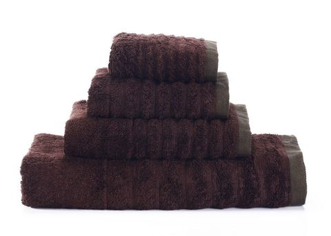 Wellness-5 темно-коричневое  махровое  полотенце Valtery