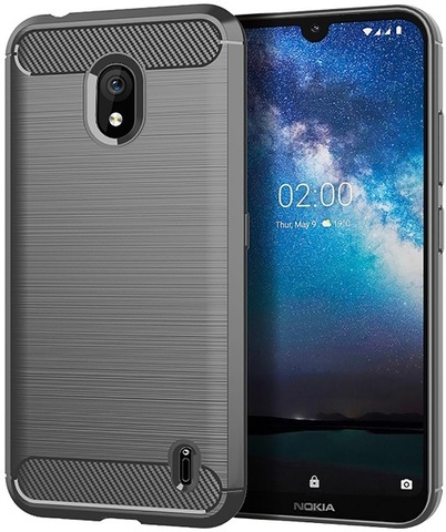 Чехол Nokia 2.2 цвет Gray (серый), серия Carbon, Caseport