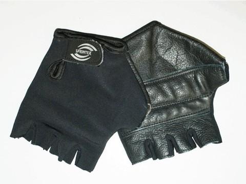Перчатки велосипедные без пальцев, материал кожа, лайкра. Размер XXL.