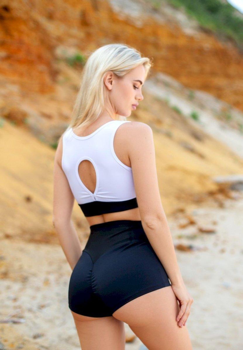 Черные шорты для танцев, фитнеса, спорта Classic Black от компании Euphoria