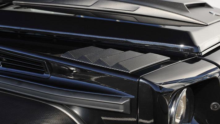 Жабры вместо повортных фонарей на крыльях  для Mercedes G-class