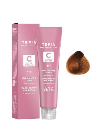 Крем-краска для волос с маслом монои 7.8 блондин шоколад 60 мл COLOR CREATS Tefia