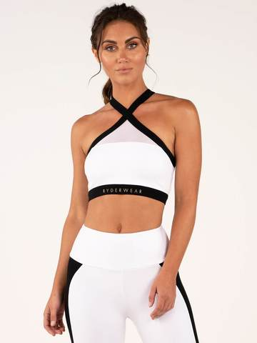 Женский топ Ryderwear Empire Mesh Sports Bra - White