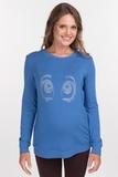 Свитшот для беременных 09144 джинса