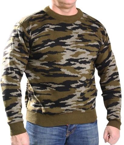 Джемпер свитер мужской (зеленый КМФ)
