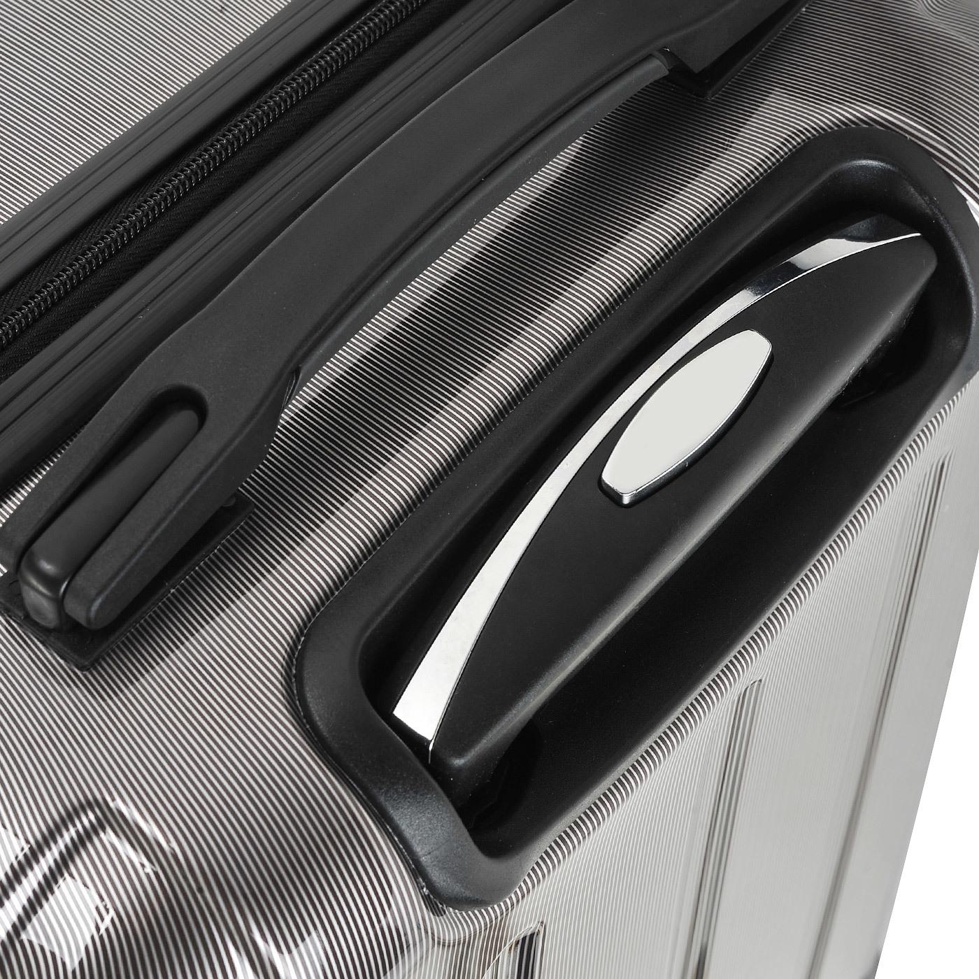 Чемодан SunVoyage Elit SV018-AC065 Серебро/Черный (XL)