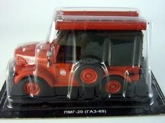 GAZ-69 PMG-20 Fire Engine USSR 1:43 DeAgostini Service Vehicle #3