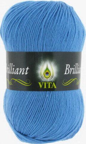Пряжа Brilliant Vita 5113 Ярко-голубой фото