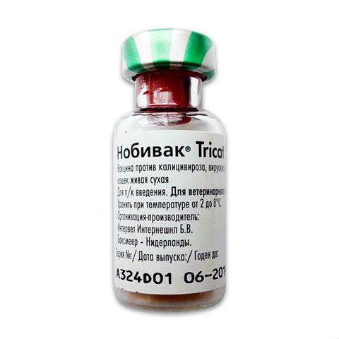 Нобивак Tricat Trio сухая вакцина для кошек 1 доза, уп.+1 мл растворитель
