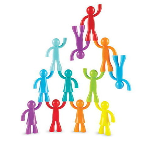 LER1081 Набор фигурок Разноцветные строители 32 шт. Learning Resources