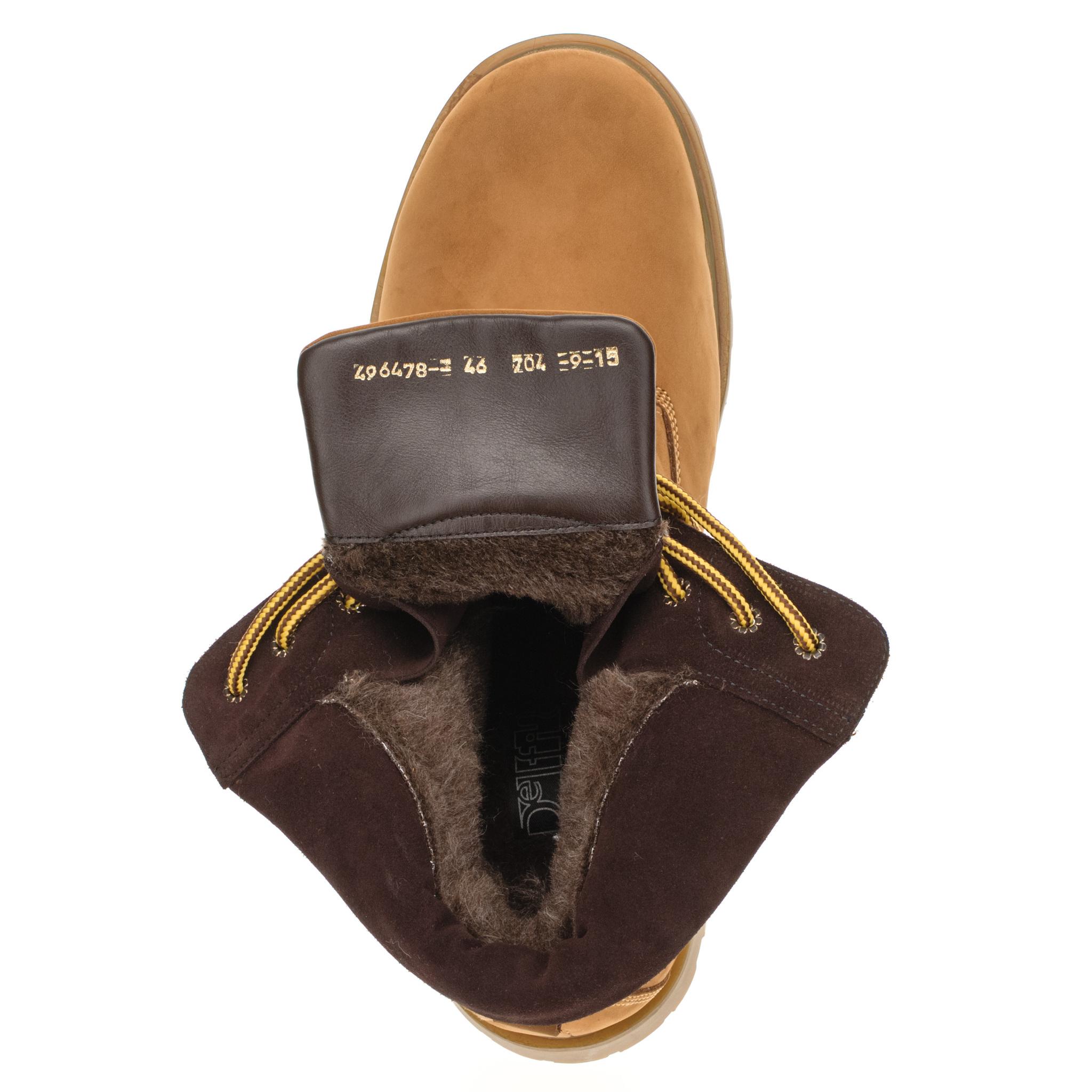 496478 ботинки мужские охра больших размеров марки Делфино