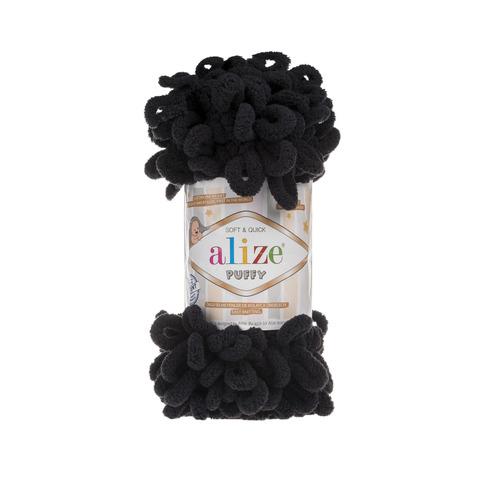 Купить Пряжа Alize Puffy Код цвета 060 Черный | Интернет-магазин пряжи «Пряха»
