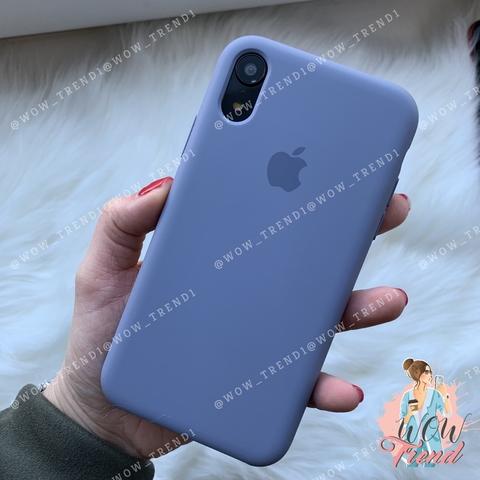 Чехол iPhone XR Silicone Case /lavender gray/ серая лаванда original quality