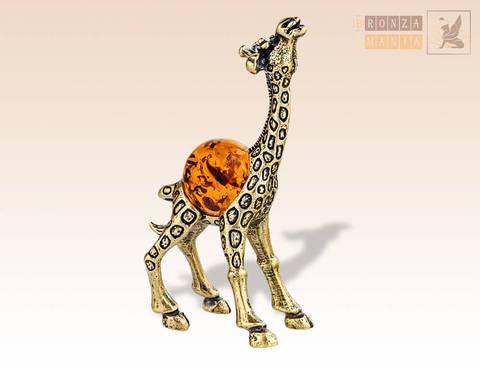 фигурка Жирафик с янтарем