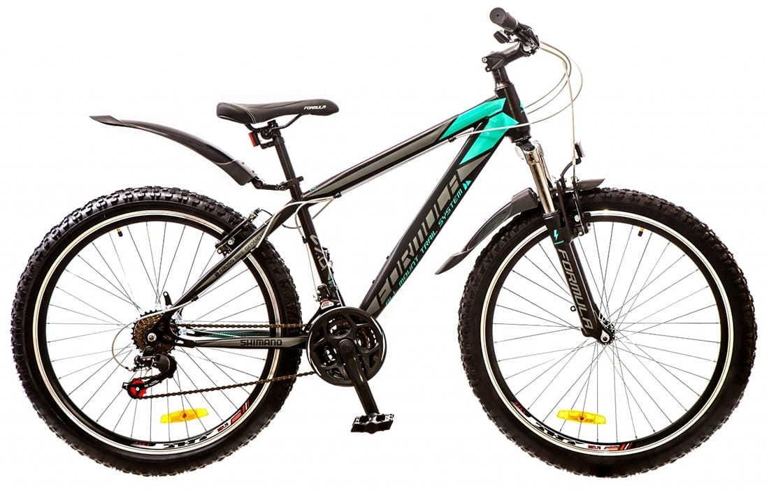 Городской велосипед Formula Nevada черно-бирюзовый