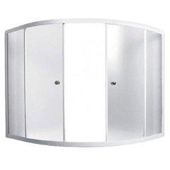 Шторка для ванны 1Marka Luxe 153х153х140 MW каркас белый