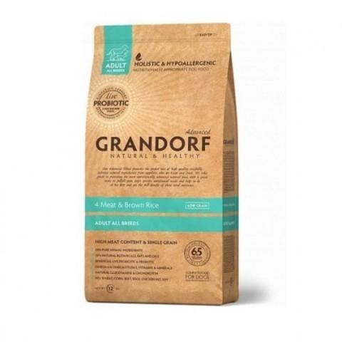 Grandorf Dog Probiotic All Breed сухой корм с пробиотиками для собак всех пород (4 мяса с рисом) 1кг