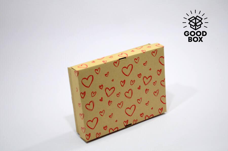 Подарочная коробка с сердцами купить в Алматы