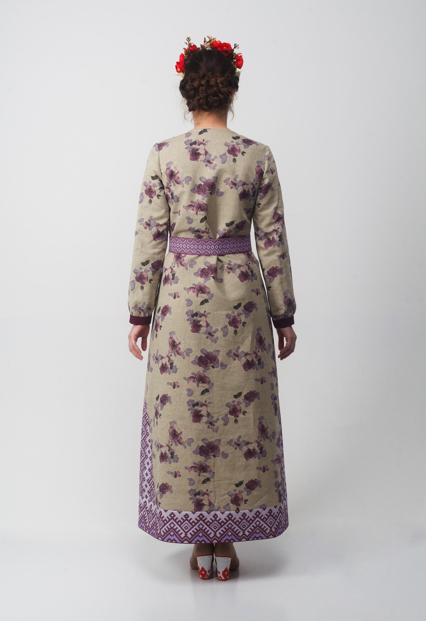 Платье Времена года Весна вид сзади