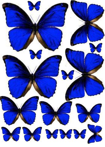 Печать на вафельной бумаге, Набор Бабочки 10
