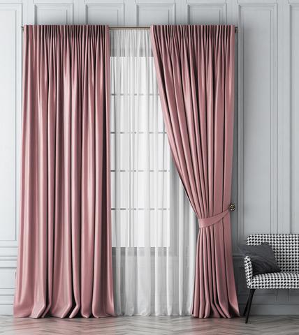 Комплект штор Габриэль розовый