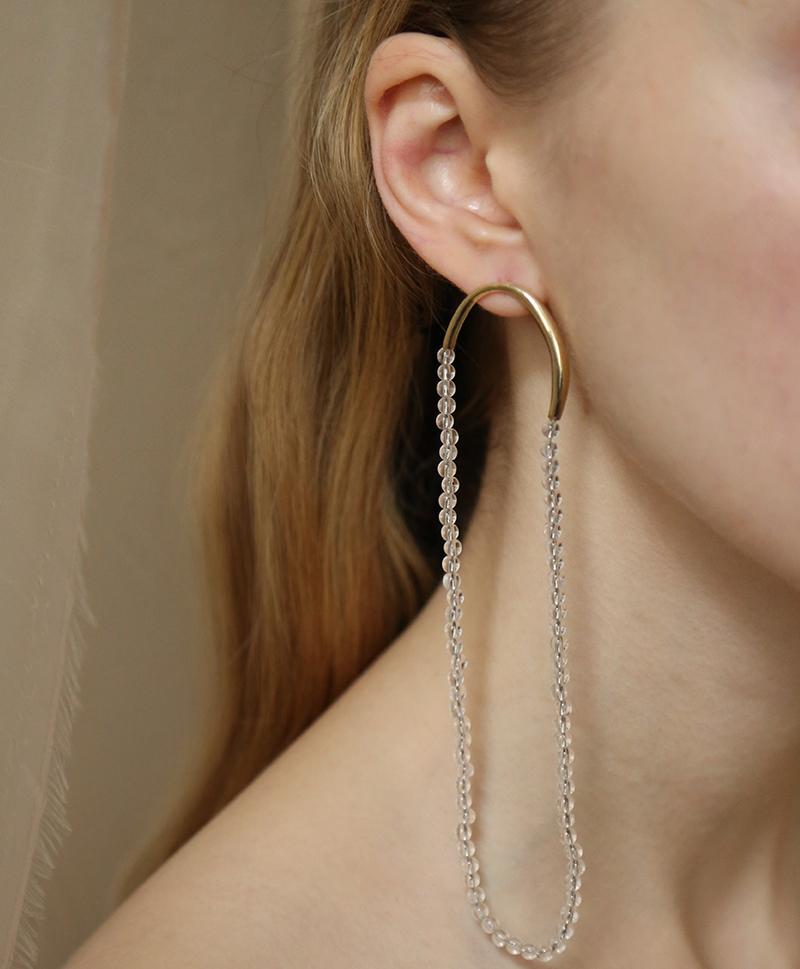 Моно-серьга Long Filo Earring