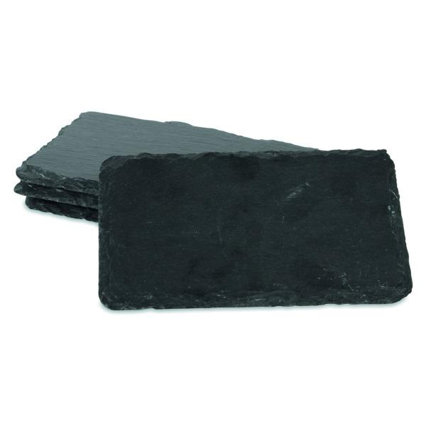 Набор досок сервировочных для сыра Boska 16x10см, (чёрный), 4шт.