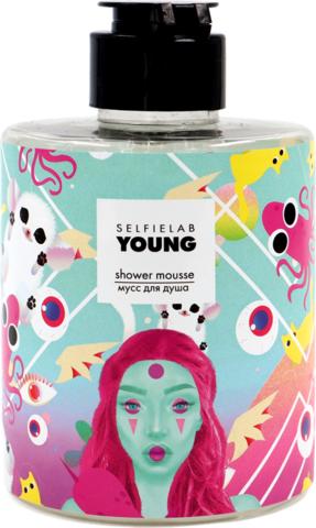 SelfieLab Young Мусс для душа с экстрактами персика и малины 300 мл