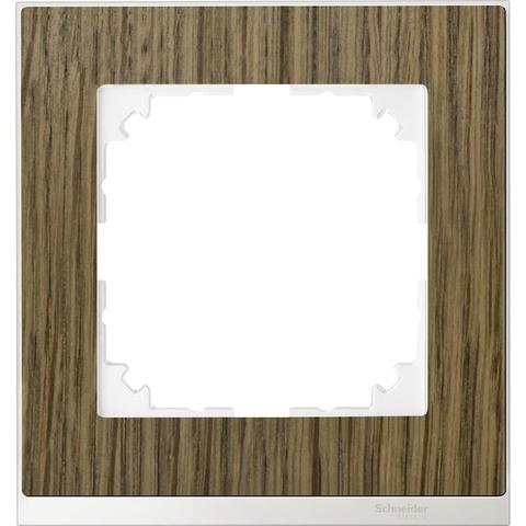 Рамка на 1 пост. Цвет Бриллиантовый белый. Merten. M-Pure Decor System M. MTN4010-3674