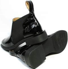 Модные женские ботильоны челси черные Ari Andano 721-2 Black Snake.