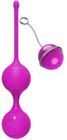 Розовые виброшарики с пультом управления K-Balls