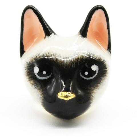 Кольцо Сиамская кошка