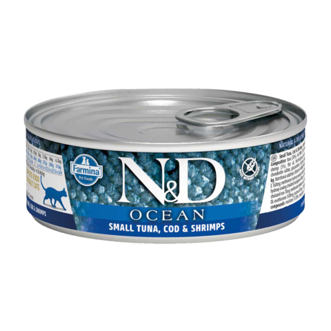 Farmina Cat Ocean Tuna, Cod & Shrimp Консервы для кошек с Тунцом, треской и креветкой