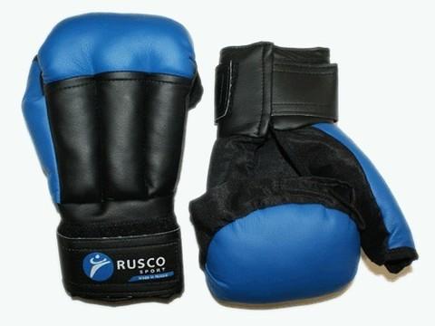 Перчатки для рукопашного боя RUSCOsport, синие, 6 Oz: с-6