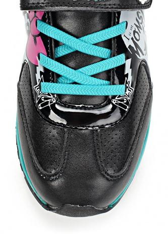 Кроссовки Монстер Хай (Monster High) на липучке для девочек, цвет черный. Изображение 7 из 8.