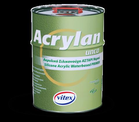 Мелкозернистая прозрачная силиконово-акриловая  грунтовка на водной основе Acrylan .