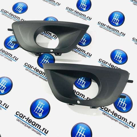 Рамки (очки) ПТФ на Лада Гранта, в бампер нового образца (2191-2803197/96)